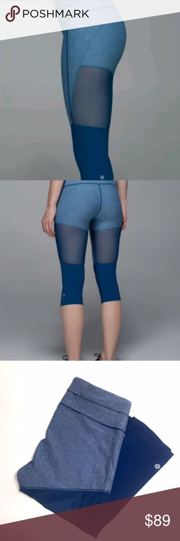 Training Tough Mesh Crop • Lululemon Details:  • Crop style  • Two hidden pockets • Mesh for design and ventilation • Excellent condition  • First two photos are stock images   Price negotiable. Don't forget to bundle and save. lululemon athletica Pants Leggings