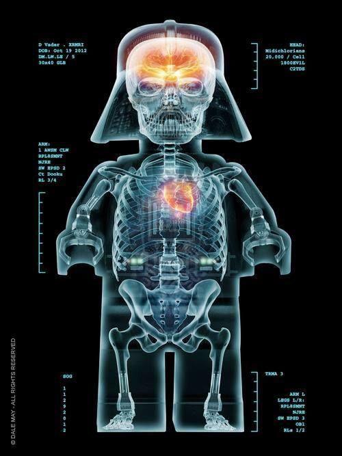 Lego Darth Vader X-ray