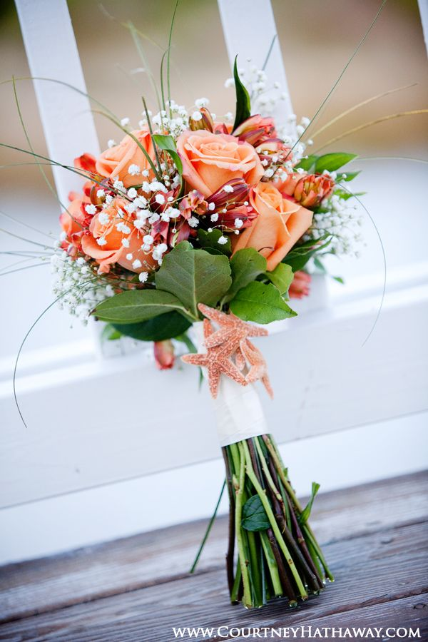 Flowers For Beach Wedding Outer Banks Weddings OBX Weddings Beach Wedding Bouquet