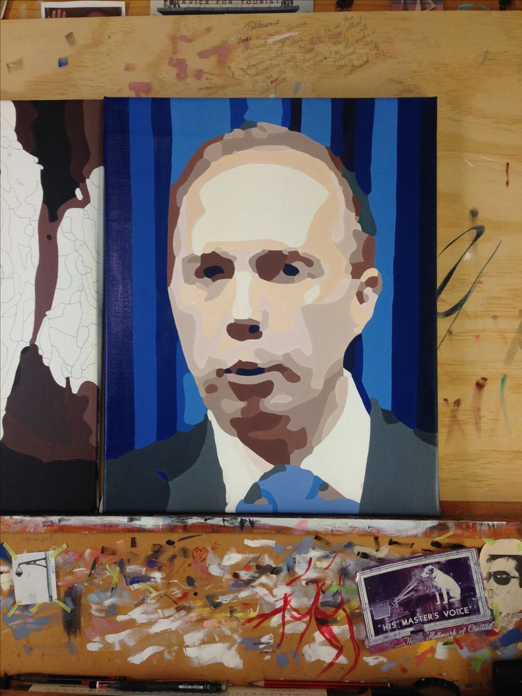 Peter Dutton oil on canvas