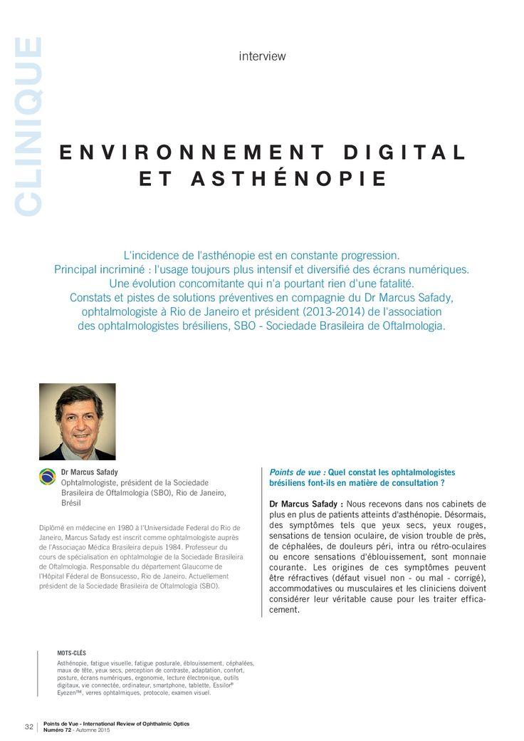 Environnement digital et asthénie - Interview du Dr Marcus Saady, ophtalmologiste au Brésil