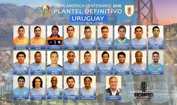 Uruguay team stickers for the 2016 Cops America.
