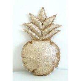 Coussin ananas paillette doré - Rock My Partie