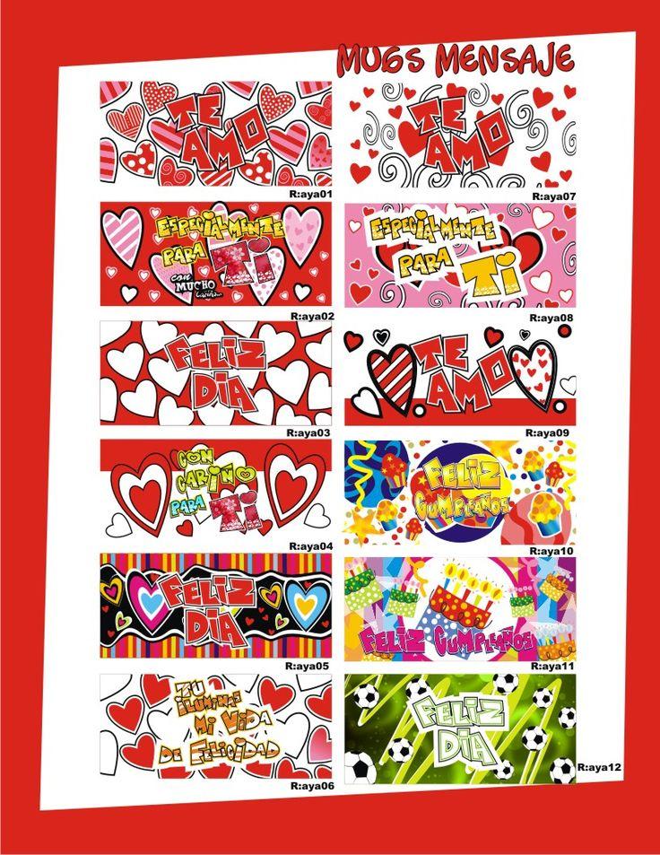 Mugs para Amor y Amistad. #DecoracionesFiestasTematicasBogota #DetallesMedellin
