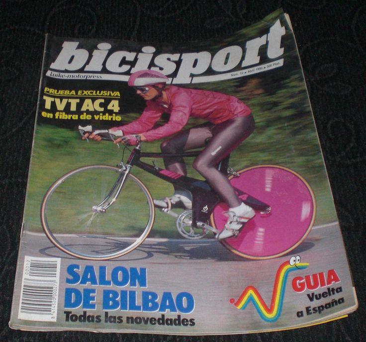Revista Ciclismo Bicisport N 12 Abril 1990      Salón de Bilbao , Todas las novedades.     Guía Vuelta a España  Póster a doble hoja Mateo Hermans