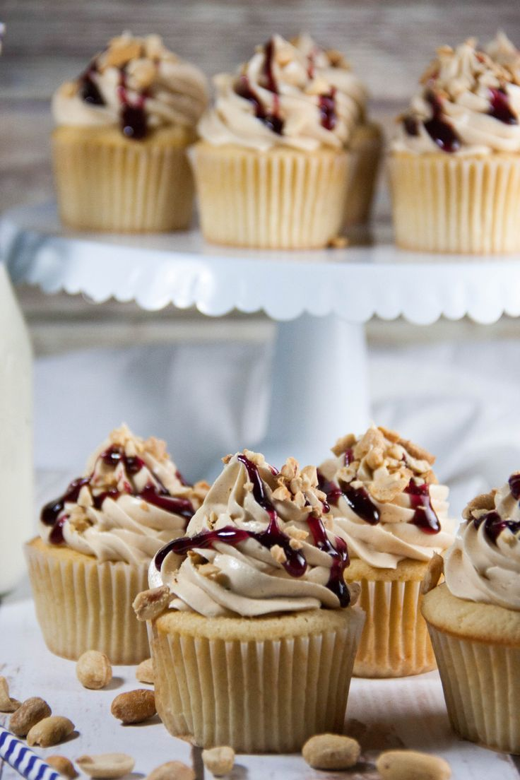 Peanut Butter And Jelly Cupcakes Recipe Butter Cupcake Recipe