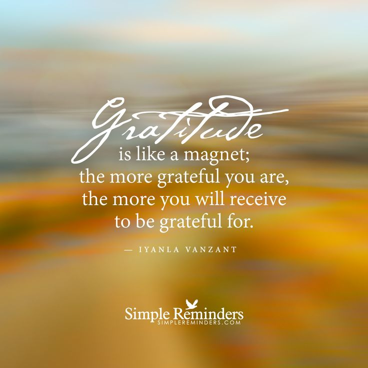 """""""Gratitude is like a magnet"""" by Iyanla Vanzant with article by Eileen Anglin"""