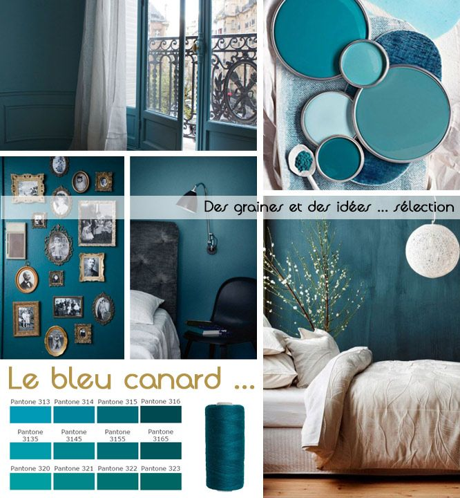 17 best ideas about deco bleu canard on pinterest bleu for Peinture chambre bleu canard