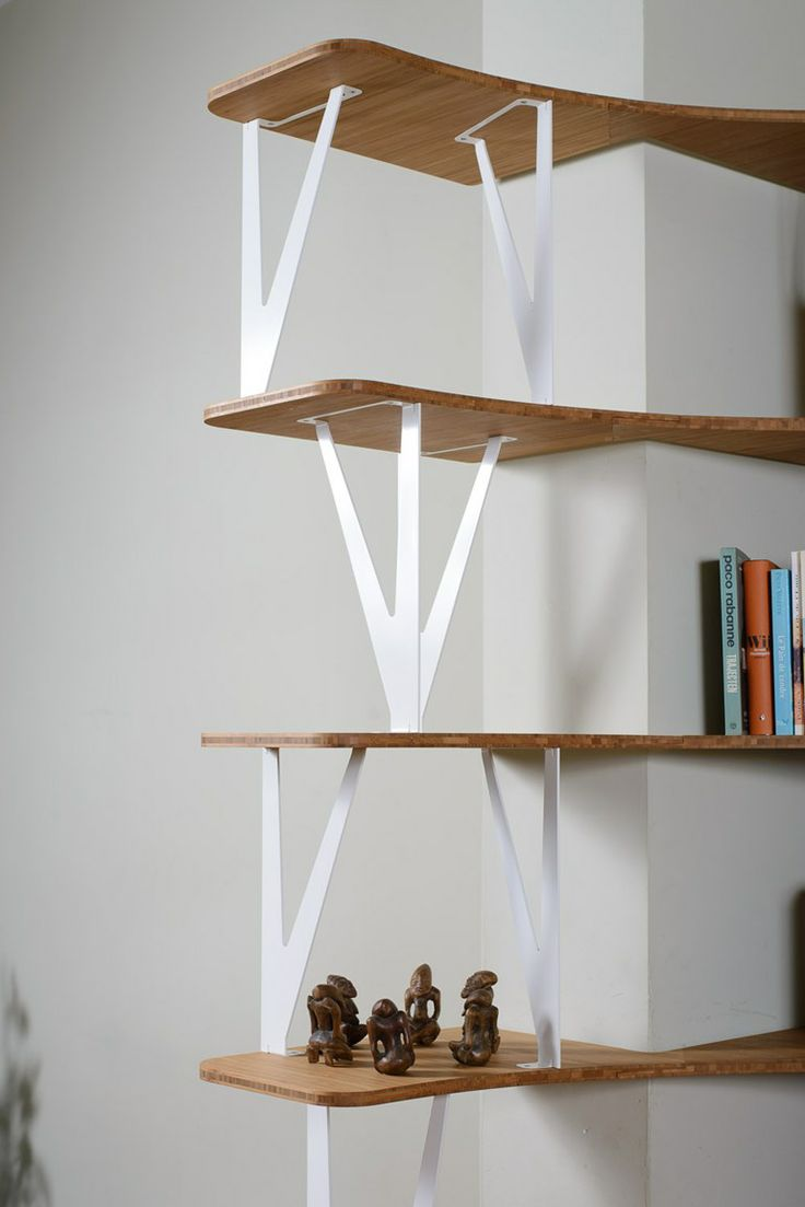 Custom steel and #wood #bookcase CURVE by Jo-a SA | #design Sébastien Boucquey