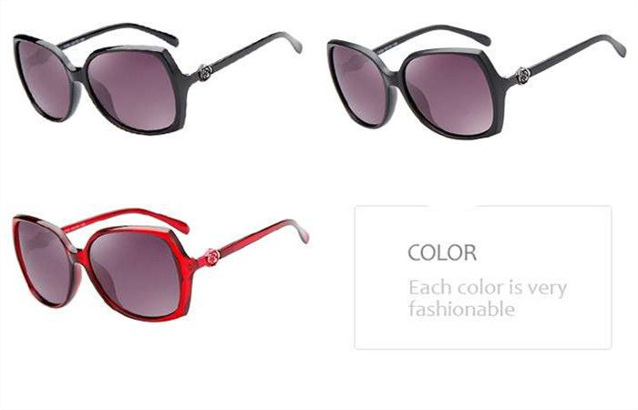 偏光サングラス通販ブランド風花付きサングラス高級大きいフレームメガネクラシック芸能人女向け