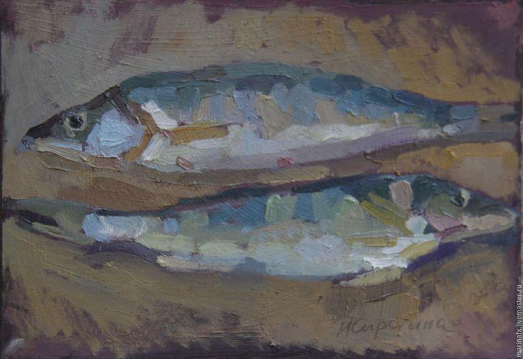 Купить Судачки - комбинированный, рыба, рыбалка, судак, оформление кухни, картина на кухню, масло