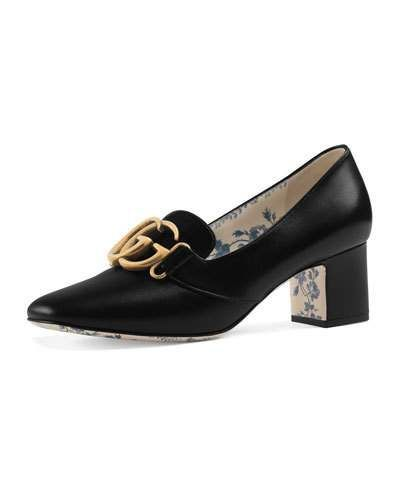 3663aed766e Gucci Leather Double-G Loafer Pump