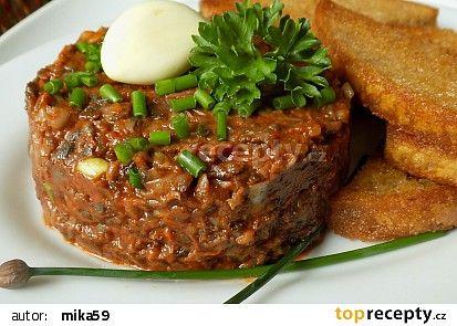 """Žampionový """"tatarák"""" recept - TopRecepty.cz"""
