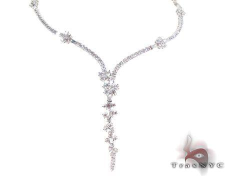 Feast Diamond Ladies Necklace Ladies Diamond Necklaces White Gold 18k Round & Baguette Cut 7.17 ct - TraxNYC.com: Cut 7 17, Feast Diamond, Necklaces White, Baguette Cut, Diamond Necklaces, Custom Pieces