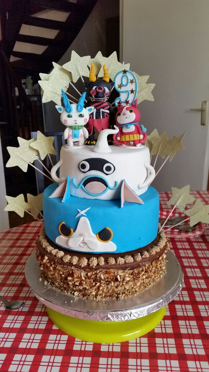 gâteau d'anniversaire Yokai watch