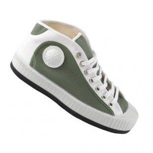 CEBO schoenen - kleur camouflage khaki wit