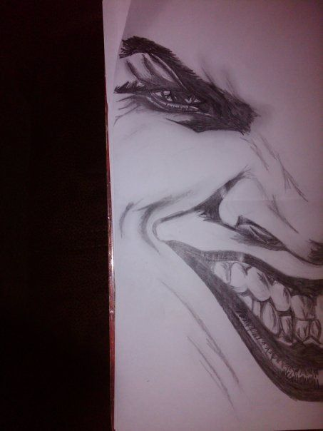 The Joker - Jack Nicholson. I never finished it tho.. I kind of don't want too either as I would probably mess it up! r.hattonx