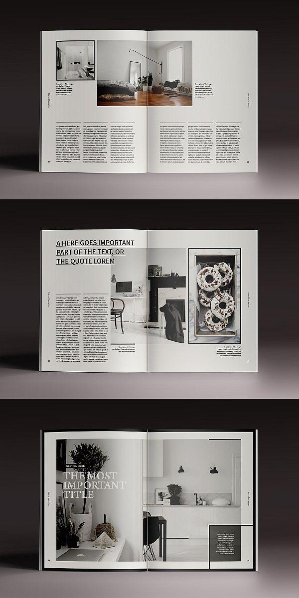 Moore Magazine Indesign Template In 2020 Magazine Layout Design Indesign Templates Book And Magazine Design