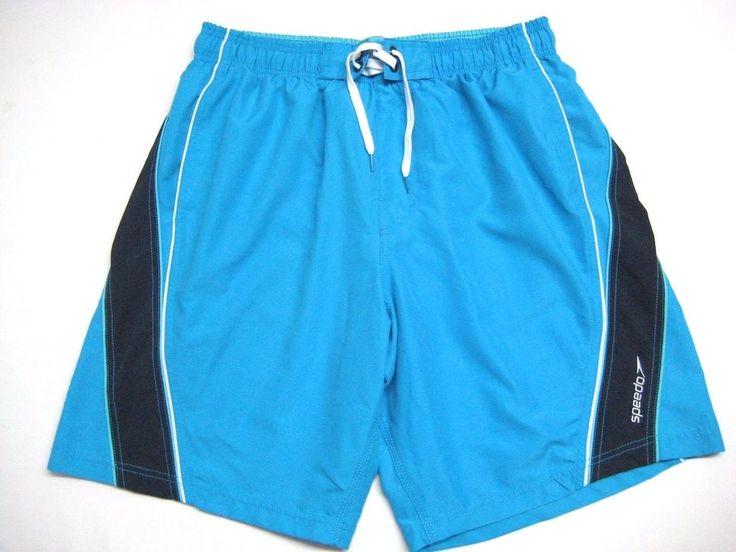 Speedo Men's Swim Trunks Bathing Suit Board Shorts L Blue  Navy #Speedo #SwimTrunks