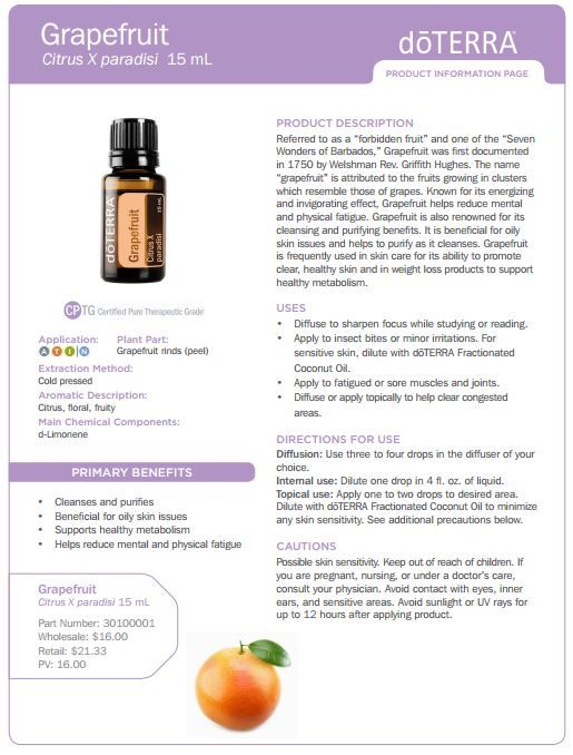 doterra tea tree   uses   doTERRA Grapefruit Essential Oil 15 ml - My Natural Family