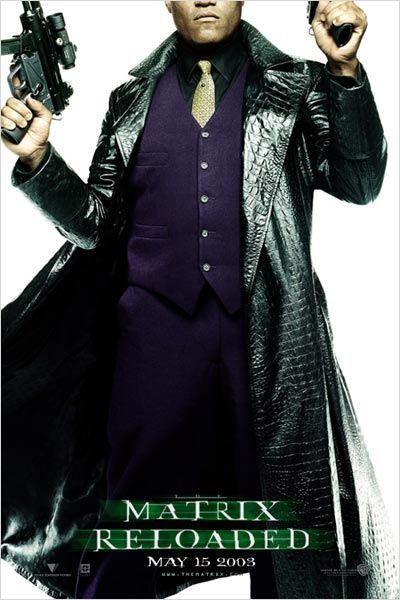 Matrix Reloaded : Photo Andy Wachowski, Lana Wachowski, Laurence Fishburne