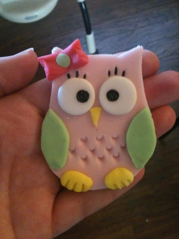 Sweet Owl Cupcake Topper or Cake Decoration