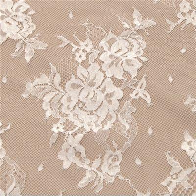 Tecido renda chantilly branco - Compra minima: 3 metros