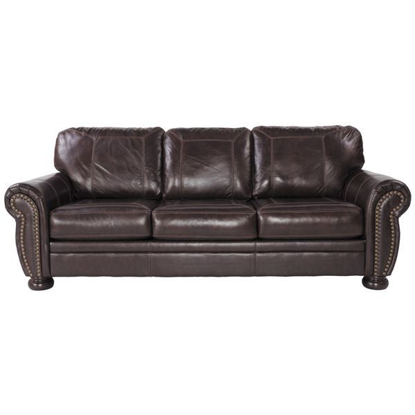 The Banner Leather Sofa by Ashley Furniture gives your home traditional comfort & styling w/out the price. Available online or in store.