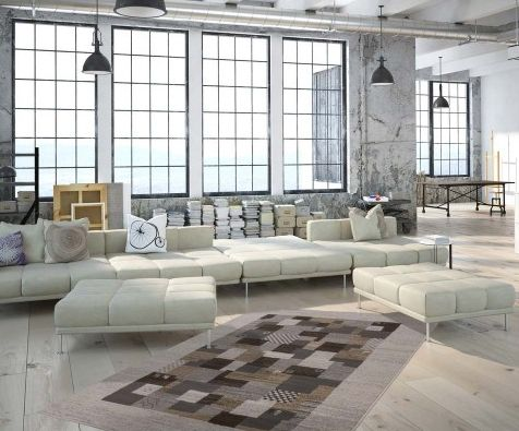 Tapis patchwork style berbère | Tapis Patchwork USA Manhattan - BRICOFLOR