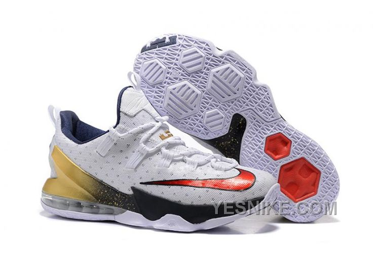 """http://www.yesnike.com/big-discount-66-off-2016-nike-lebron-13-low-usa-olympic-white-university-redobsidianmetallic-gold.html BIG DISCOUNT ! 66% OFF! 2016 NIKE LEBRON 13 LOW """"USA"""" OLYMPIC WHITE/UNIVERSITY RED-OBSIDIAN-METALLIC GOLD Only 101.31€ , Free Shipping!"""