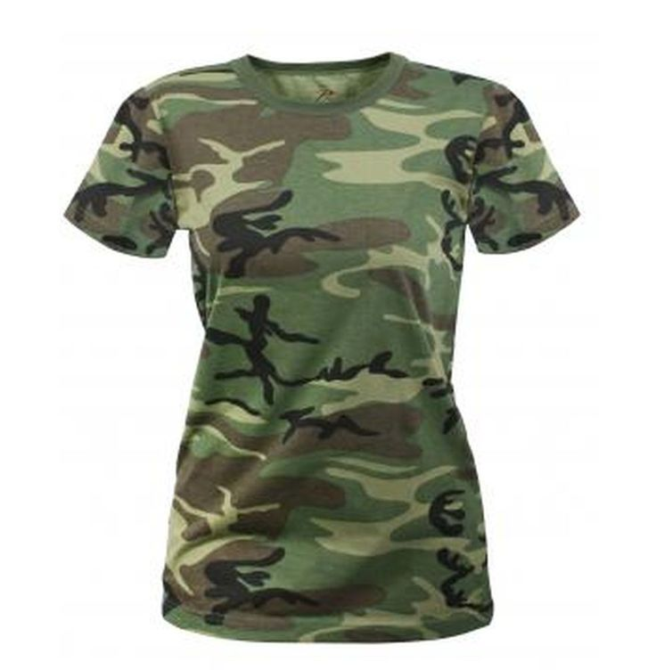 Rothco Womens Long Length Camo T-Shirt (5 Colors)