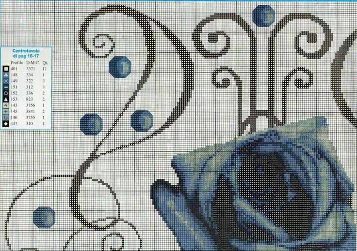 runner blu roses
