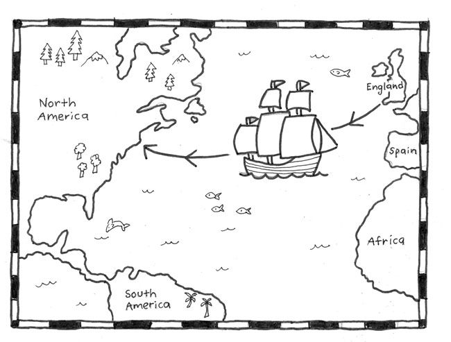 Trace the Mayflower's Journey · Art Projects for Kids