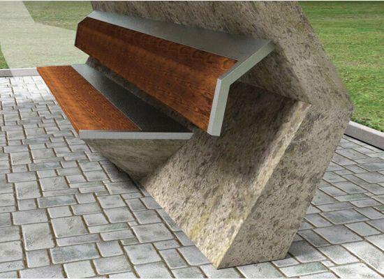 Ergonomically designed bus stop by Martin Necas