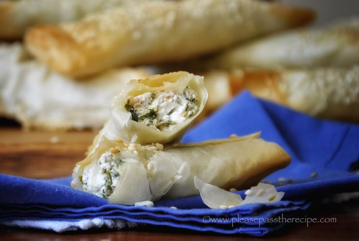 Herb and Fetta Filos Rolls | Please Pass the Recipe