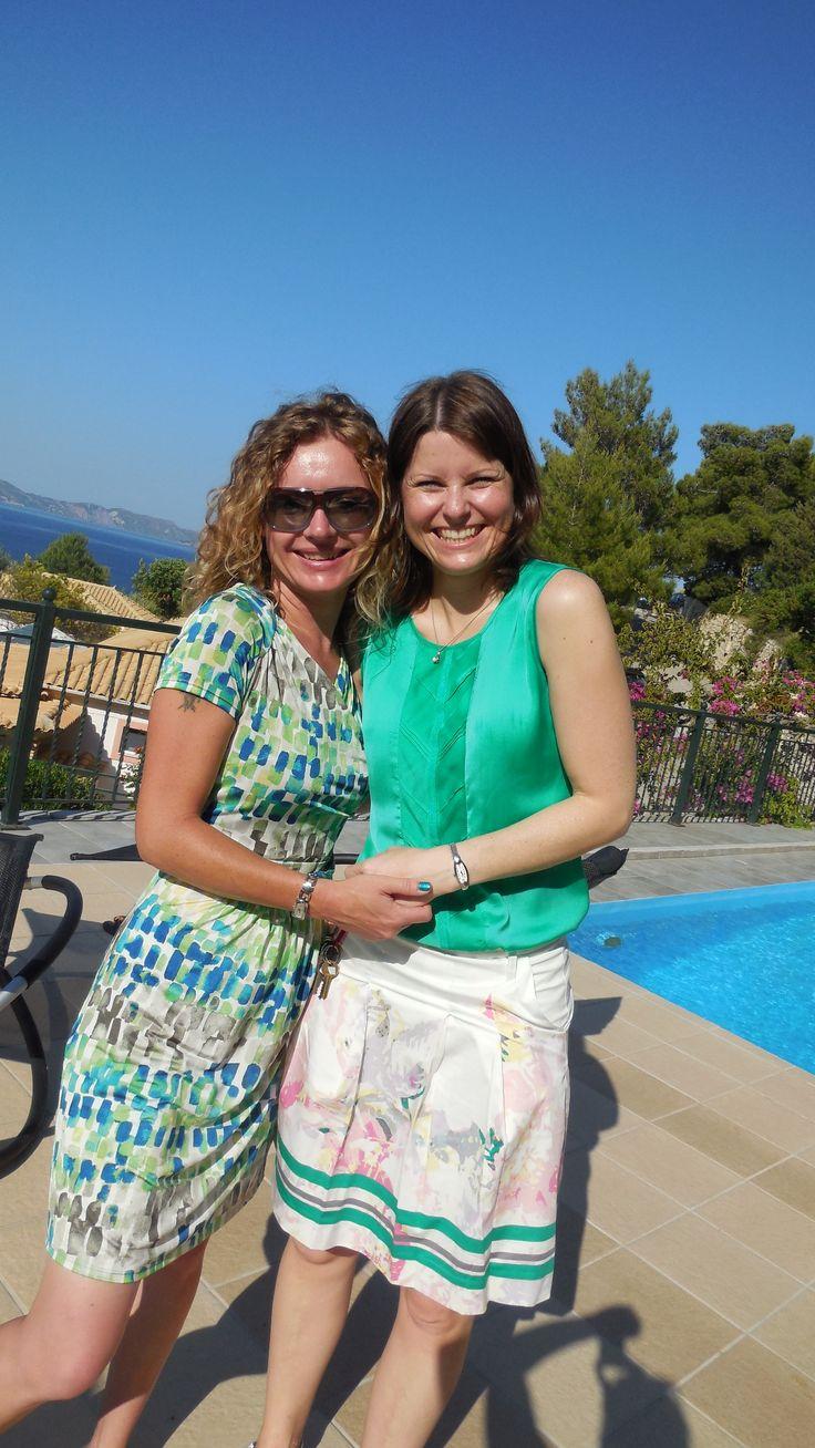 Our pool model Myreen  — at Zakynthos