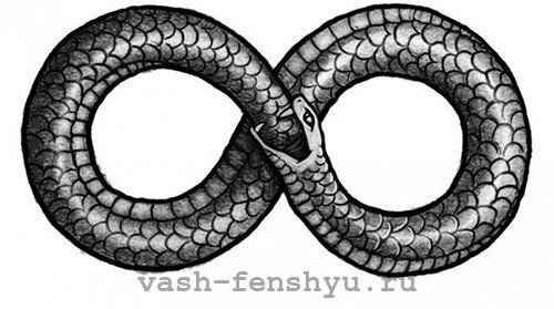 символ бесконечности значение в фен шуй уроборос