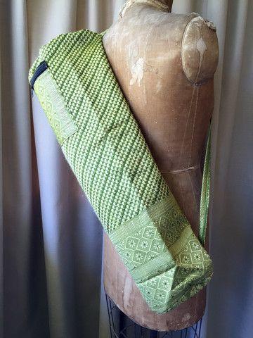Silk Sari Yoga Bag : Green Shop now NZ$25 Summer House NZ