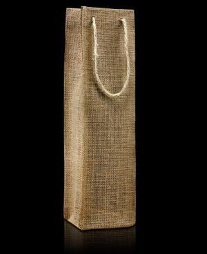 El modelo Tokio es un estuche de botella moderno pero cálido al mismo tiempo. Por que combina un diseño minimalista con un material natural y rústico como es la arpillera.
