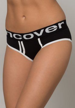 uncover by Schiesser - JERSEY COLORS 2 PACK - Slip - angry black