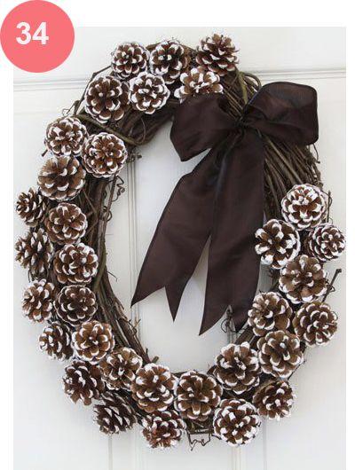 Decoração de Natal - Grinalda com pinhas