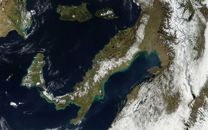 Download wallpapers Italy from space, NASA, space, Europe, Mediterranean Sea, Italy