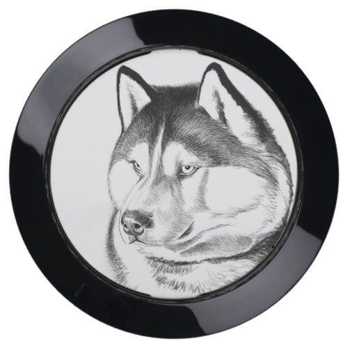 Siberian Husky Dog USB Charging Hub Station