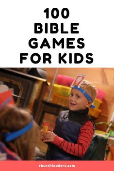 Games with fun Bible lessons for Sunday school and kidmin--or home