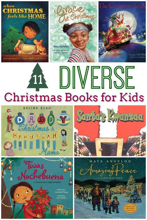 11 Diverse Christmas Books -- these picture books celebrate the beauty of Christmas with diverse characters.