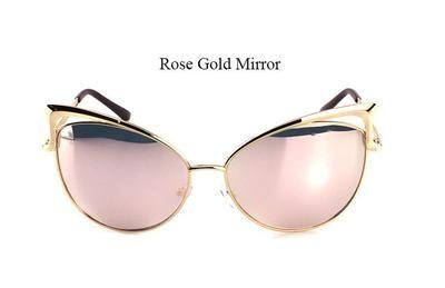 2017 Movie Star Cat Eye Rose Gold Shades
