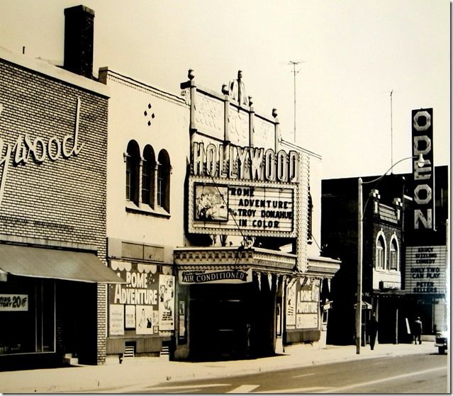 Hollywood Theatre, 1960s, just north of the Odeon Hyland Theatre both on Yonge Street just north of St. Clair Avenue.