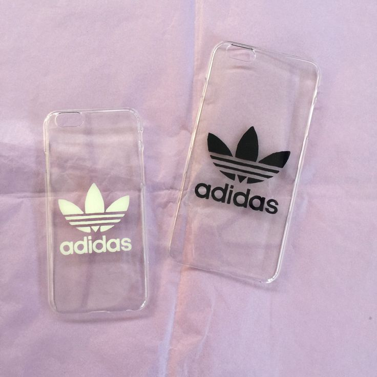 Hard transparent iPhone cover case with Adidas logo by Zocan on Etsy https://www.etsy.com/listing/259849820/hard-transparent-iphone-cover-case-with