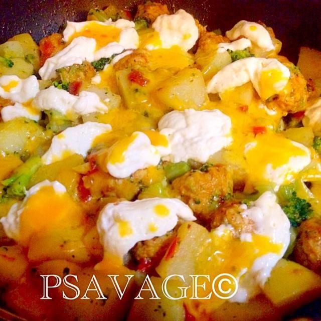 レシピとお料理がひらめくSnapDish - 8件のもぐもぐ - • Delicious Moroccan Chicken Meatball Tagine • Spices / Soft boiled eggs / Potatoes / Broccoli by PSAVAGE