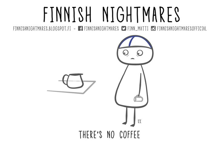 Finnish Nightmares comic. Full of uncomfortable social situations.